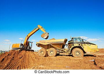 車輪, ダンプカー, ダンパ, 掘削機, 積込み機
