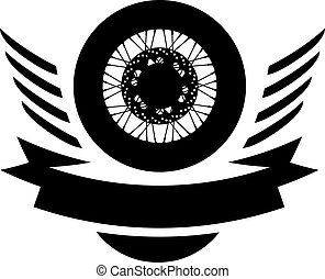 車輪, ロゴ, シンボル, ベクトル, moto