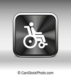 車輪, 入手しやすい, ハンディキャップ, 無効, ハンディキャップを付けられる, 椅子, アイコン