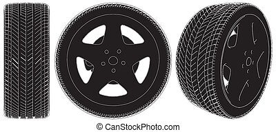 車輪, 自動車, タイヤ