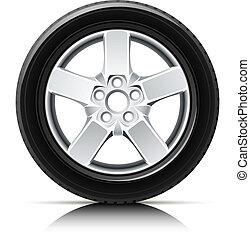 車輪, 自動車
