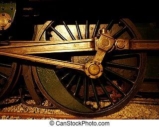 車輪, 蒸気, 機関車