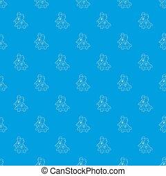 車輪, 青いギヤ, パターン, 中, 男性, seamless