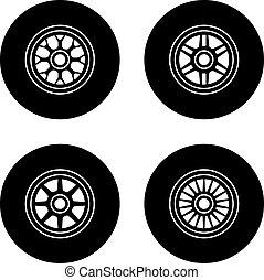 車輪, f1, ベクトル, シンボル