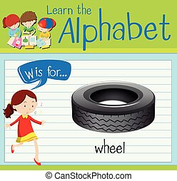 車輪, flashcard, w, 手紙