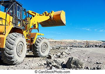 車輪, opencast, 掘削機, 私の, 積込み機, 鉄, 花こう岩, 鉱石, ∥あるいは∥