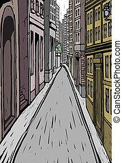車道, 外部, 建築物