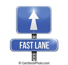 車道, 快, 簽署, 設計, 插圖, 路