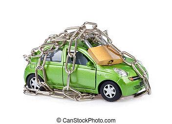 車, セキュリティー, ∥で∥, ナンキン錠と鎖