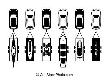 車, 公益事業, スポーツ, トレーラー