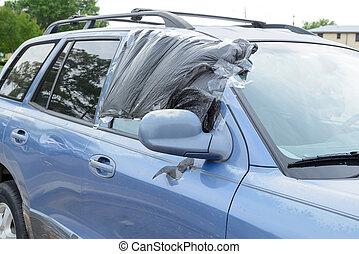 車 窓, 壊される