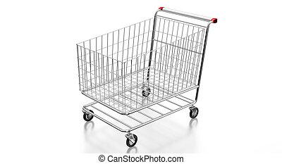 車, 3d, -, 購物, 插圖