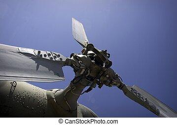 軍のヘリコプター