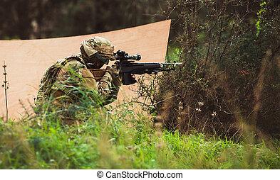軍の武器, 男性, ユニフォーム