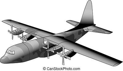 軍の飛行機