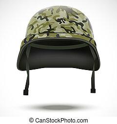 軍事, 鋼盔, 矢量, camo, 圖案