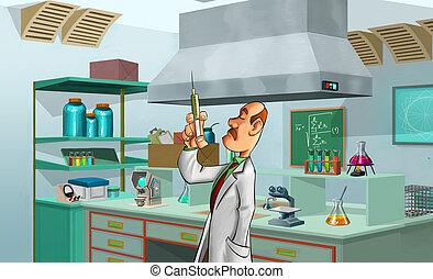 軍醫, 在實驗室