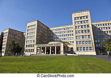 軍隊, 使われた, 大学, farben, headquarter, 家, 有名, 私達, nowadays,...