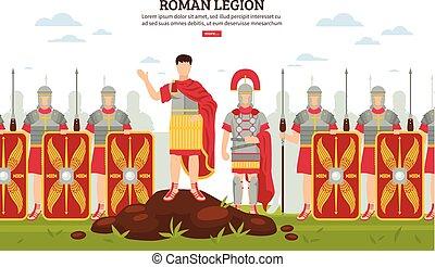 軍隊, 古代, 旗, ローマ