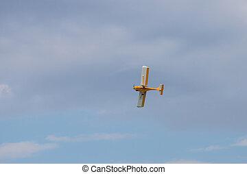 軍隊, 飛行, 空, 連絡, 航空機, オレンジ