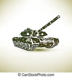 軍, シンボル, タンク
