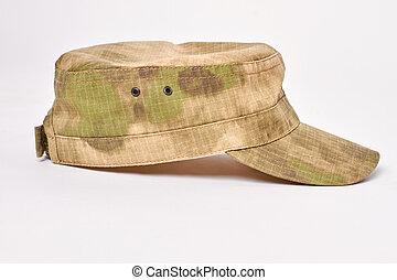 軍, ビュー。, 帽子, 側