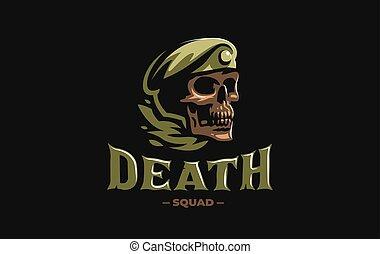 軍, ベレー帽, 頭骨