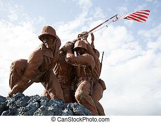 軍, 彫像