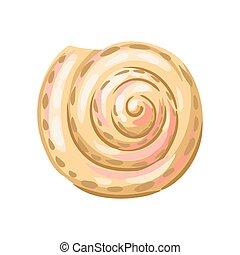 軟体動物, イラスト, shell., seashell., トロピカル, 水中