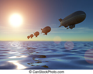 軟式小型飛行船