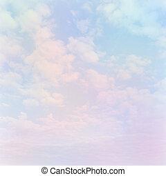 軟, 天空, 雲, 背景