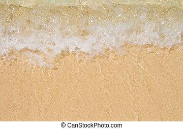 軟, 波浪, ......的, the, 海, 上, the, 沙海灘