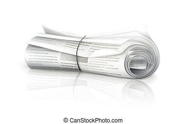 転がされた新聞