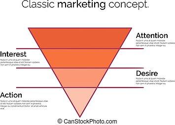 転換, マーケティング, じょうご, シンボル。, sales., テンプレート, ∥あるいは∥