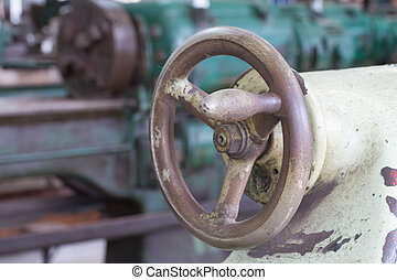 輪子, 機器, 車床, 轉動, 手
