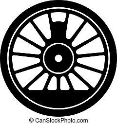 輪子, 蒸汽, 機車