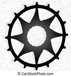 輪子, 齒輪, 3d