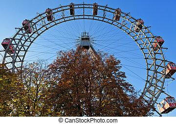 輪子, ferris, 巨人, 維也納