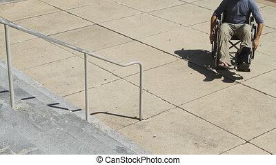 輪椅, 不, 斜坡梯, 挫折