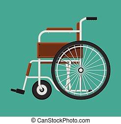 輪椅, 在, the, hospital.