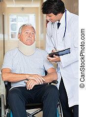 輪椅, 醫生, 病人, 通訊