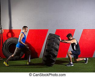 輪胎, 測驗, 人, 用指頭彈, 拖拉机, 體操, 練習