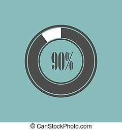 輪, 元素, ......的, infographics, 在, 餅, charts., 矢量, 插圖