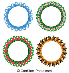 輪, 季節, 框架