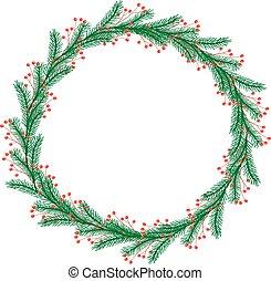 輪, 末梢, 聖誕節, 漿果, 花冠