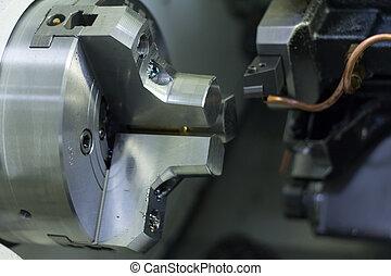 轉動, &, 光, 車床, 機器, 机器加工, cnc, pla, 低