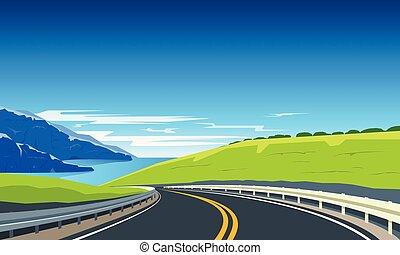轉動, 旗幟, 高速公路