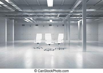 轉椅, 在, 倉庫