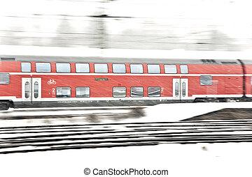 轨道, 冬季, 训练, 雪慌张