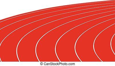 轨道, 旋转, 跑, 红